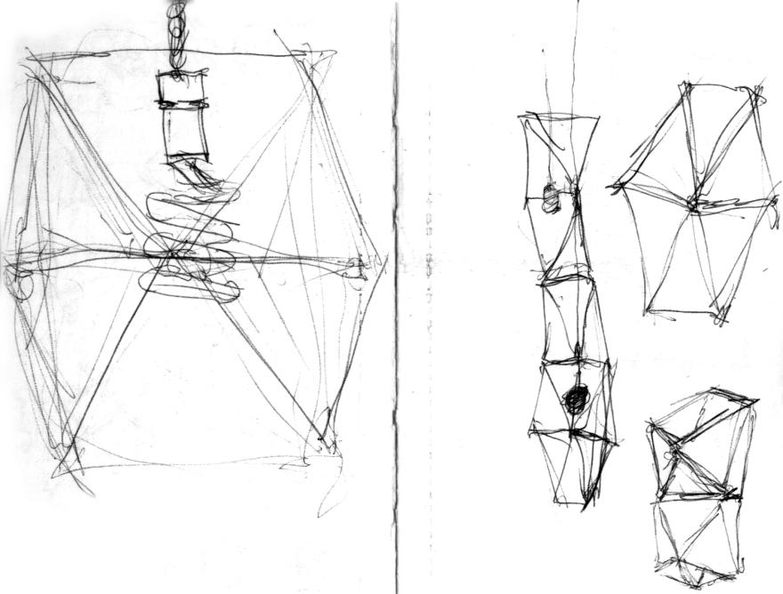 Hanging translucent lamps